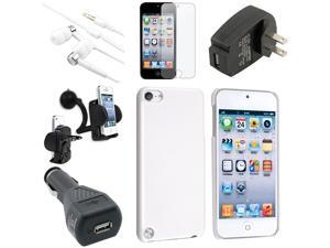 eForCity Apple iPod Touch 5 G Accessories Bundle - Case, In-Ear Headset, Reusable Anti-Glare Screen Protector