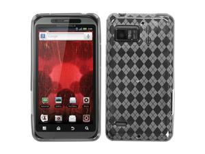 MYBAT T-Clear Argyle Pane Candy Skin Cover for MOTOROLA XT875 (Droid Bionic)