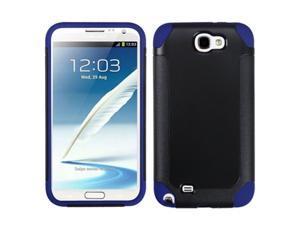 MYBAT Black Blue Fusion Hybrid Cover Case for Samsung Galaxy Note II (T889/I605/N7100)