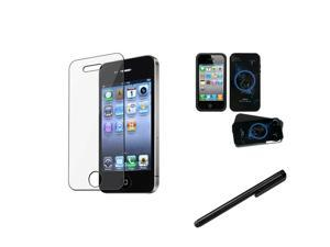 eForCity Aries Horoscope Collection Fusion Protector Case + LCD Cover + Stylus compatible with Apple® iPhone 4G 4S