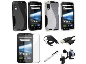 eForCity Compatible With Motorola Atrix 4G Mb860 Two TPU Skin Case Accessory