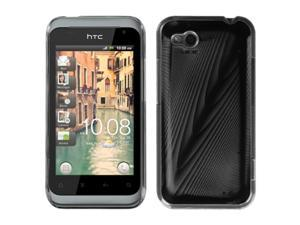MYBAT Black Cosmo Back Protector Cover for HTC ADR6330 (Rhyme)