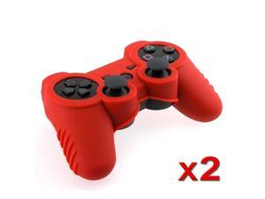 red Soft Silicone Skin Case (2 Pack) for Sony PS3 Controller