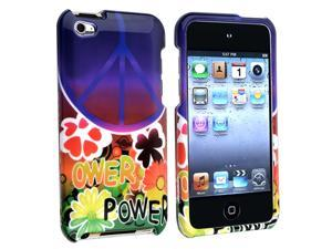 Snap-on Case compatible with Apple iPod Touch 4th Gen, Peace Sign Flower
