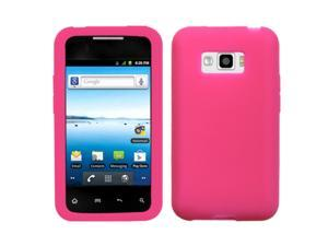 MYBAT Solid Hot Pink Silicone Skin Gel Cover Case Compatible With LG Optimus Elite LS696