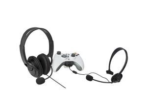 eForCity 2 Hot Game Live Black Headset With Microphone Headphone For Xbox 360 Controller