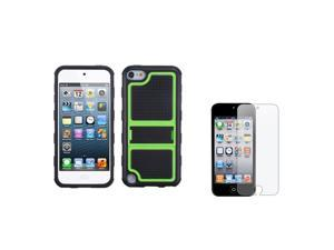 eForCity Green Gummy Armor Stand + Reusable Screen Protector Compatible with Apple® iPod touch 5th generation