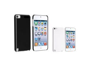 eForCity 2 x Snap on Crystal Hard Case (Black , White) compatible with the NEW Apple® iPod Touch 5 / 5th / 5 th / Gen5 / ...