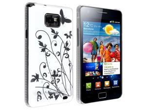 eForCity Snap-in IMD Case Compatible with Samsung© Galaxy S II / S2 i9100, White Butterfly