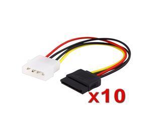 "eForCity 10 x 6"" IDE to 15 Pin SATA Serial ATA HDD Power Adapter Cable"