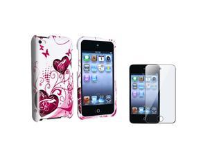 WHITE HARD CASE+SCREEN GUARD Compatible with iPod touch 4TH 4 G GEN