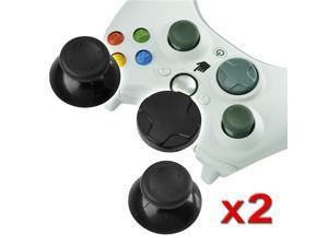 eForCity 2x 2pcs D-Pad+Black Analog Stick Replacement Joystick For Microsoft xBox 360 Controller