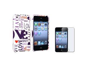 Lover Snap-on Hard plastic Case with Anti-Glare LCD Cover compatible with Apple® iPod touch 4th Generation