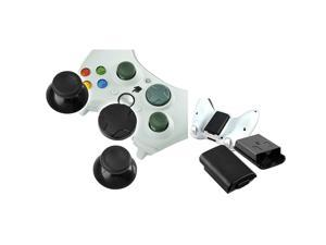 eForCity Controller Thumb 2 x Joysticks, 1 x D-Pad with Black Wireless Controller Battery Pack Shell Compatible with Microsoft ...