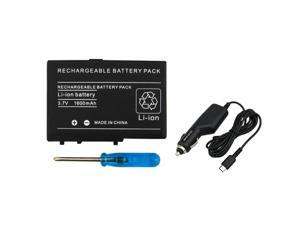 eForCity Rechargeable Battery + Car Charger Bundle Compatible With Nintendo DS Lite