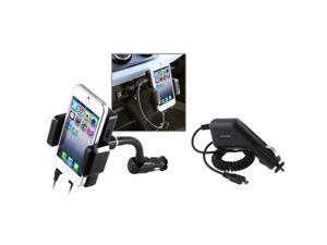 Wireless 3.5mm LCD FM transmitter Car Mount with Holder + Micro USB Car Charger compatible with HTC EVO 3D