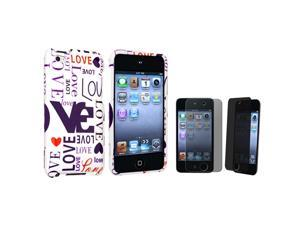 Lover Snap-on Hard plastic Case + Privacy Screen Protector Compatible with Apple® iPod touch 4th Generation