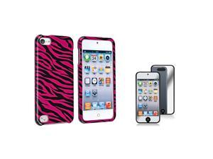 eForCity Hot Pink Black Zebra Hard Plastic Case Cover with FREE Mirror Screen Protector compatible with Apple® iPod touch ...