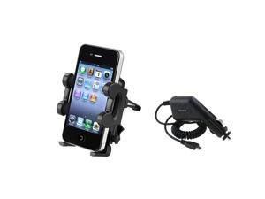 Car Vent Mount Holder+Charger Compatible With Samsung© Galaxy S2 S 2