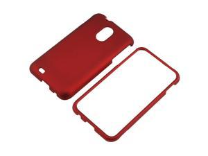 Snap-on Rubber Coated Case compatible with Samsung© Epic 4G Touch SPH-D710, Red
