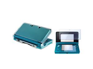 LCD Screen Protector with Clear Hard Case for Nintendo 3DS