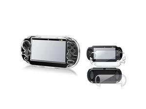 eForCity Clear Hard Crystal Case + Full Body Screen Protector For Sony Playstation PS Vita