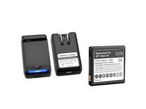 eForCity Standard Li-ion Battery + Battery Desktop Charger for Samsung© Infuse SGH-i997 4G