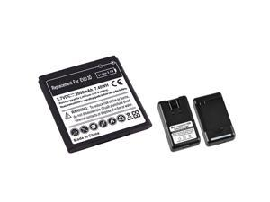 2000mAh Battery+Charger compatible with HTC EVO 3D Sprint