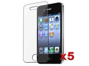 eForCity 5-Pack Screen LCD Guard Protector Compatible With Apple iPhone 4