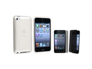 eForCity Clear Frost White TPU Case + Privacy Screen Protector compatible with Apple® iPod Touch 4