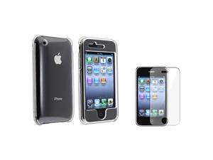 eForCity Clear Hard Case Cover+Screen Protector Compatible With iPhone 3GS