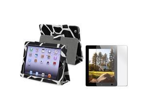 eForCity Milk Cow Leather Case with Reusable Screen Protector for Apple® ipad 3rd generation / The new ipad /ipad 4 / ipad ...