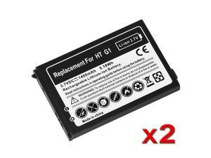 eForCity 2-Pack Battery Compatible With HTC Dream T-Mobile G1 Google Phone