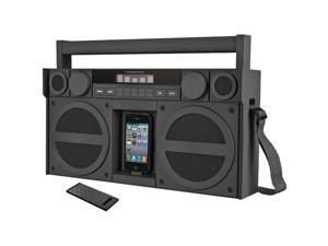 Ihome Ip4Gzc Portable Fm Stereo Boom Box compatible with iPhone®/iPod®,Gray