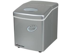 MAGIC CHEF MCIM22TS 27-lb portable mini ice maker ,silver