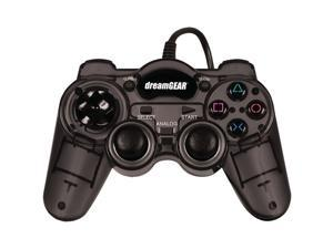 DreamGear Dreamshock Micro wired controller for PS2. pressure sensitive buttons. slow motion and turbo features for enhanced ...