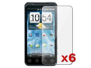 eForCity 6 Premium Hi-Q Clear LCD Screen Protector Cover Guard Film ShieldCover Compatible with Sprint HTC EVO 3D