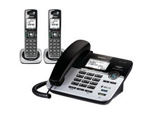 Uniden D3588-2 Dect 6.0 Bluetooth 2 Handset Corded/Cordless Phone System With Answering System and Cell Link Connection