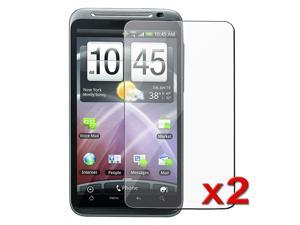 eForCity 2X Clear LCD Screen Protector Cover Guard Film Shield Film Compatible with HTC Thunderbolt 4G