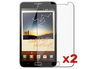 eForCity 2x LCD Clear LCD Screen Protector Cover Guard Film Shield Film Cover Compatible with Samsung© Galaxy Note N7000