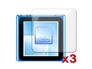 Three-Pack Clear Screen Protector Compatible with iPod Nano 6Th Gen