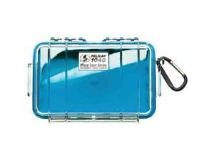 PELICAN 1040-026-100 Blue 1040 Micro Case with Clear Lid and Carabineer