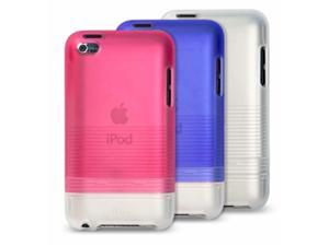iLuv Tinted PC Case with Soft coating for iPod Touch 4th Gen, Blue iCC618BLU