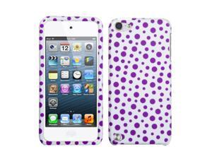 MYBAT Purple Polka Dots Image Hard Plastic Cover Case Compatible With Apple® iPod Touch 5