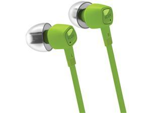 iLuv jetTurbo Green 3.5mm High-Performance Headset with SpeakEZ Remote for iPad / iPhone / iPod iEP385