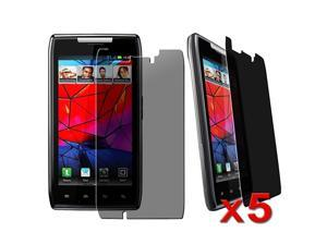 eForCity Motorola Droid Razr XT910 Screen Protector - [5-Pack] Privacy Anti-Spy Screen Protector Shields For Motorola Droid ...