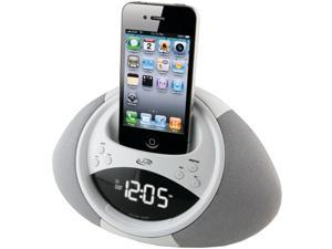iLive White Dual Alarm Clock Radio for iPod and iPhone ICP122W