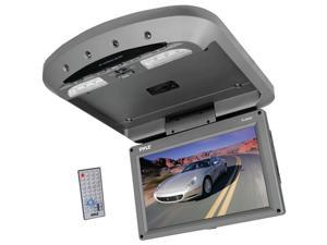 Pyle - 9.5'' Flip Down Roof Mount Monitor & DVD SD/USB Player With Wireless FM & IR Transmitter