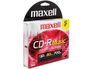 Maxell 625132 Music Cd-Rs ,5-Pack