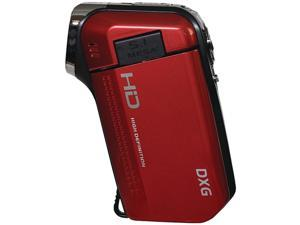 Dxg Usa Dxg-5B6Vr Hd 16.0 Megapixel 720P High-Definition Quickshots Mini Digital Video Camera (Red)